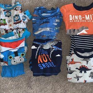 Bundle of 6 Pairs of Boys' Pajamas